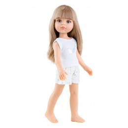 Кукла Карла в пижамке с челкой.